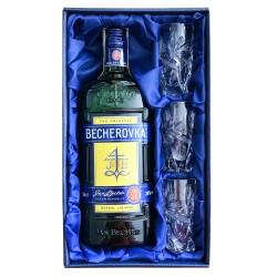 Becherovka 0,5l se skleničkami