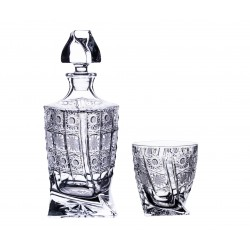 Quadro whisky set, Crystalite