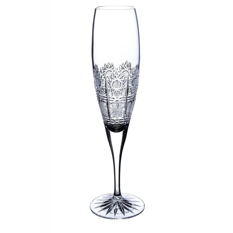 Broušené skleničky na šampus 200ml, Klasika