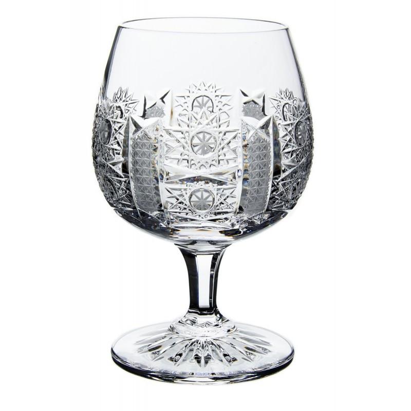 Broušené skleničky na rum, brandy, koňak 280ml, Iris