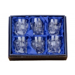 Broušené skleničky na panáky (nízké) 55ml, Mašle