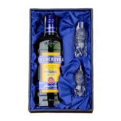Becherovka 0,35l s 2ks skleničky 50ml