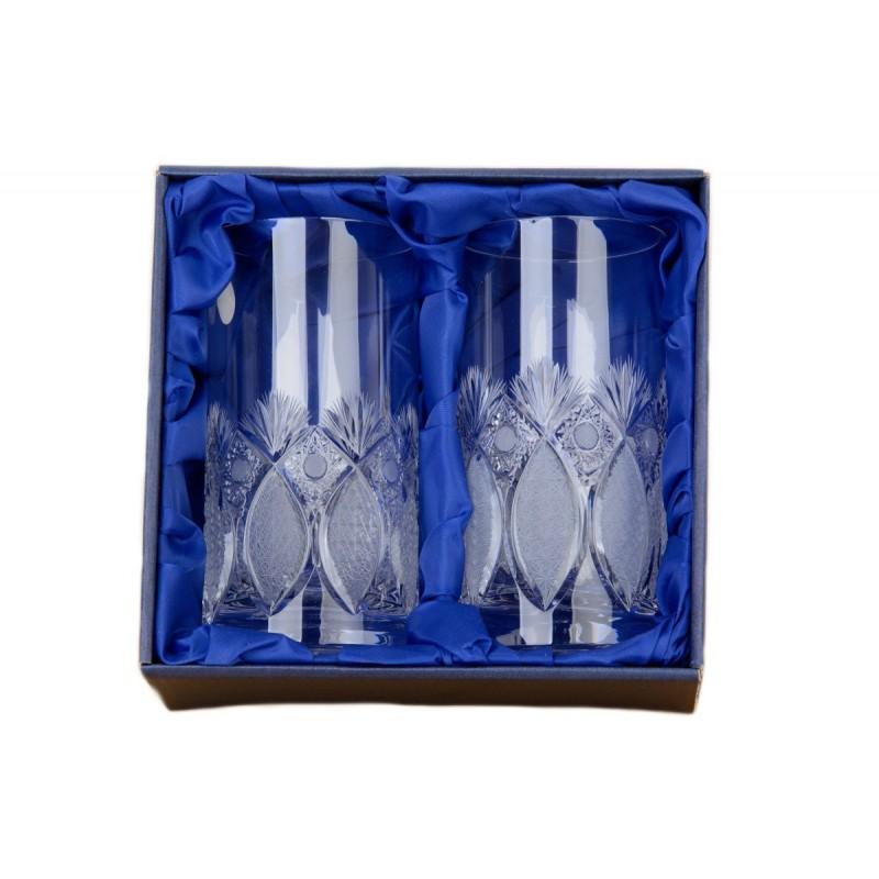 Broušené skleničky na vodu 380ml, Exclusive