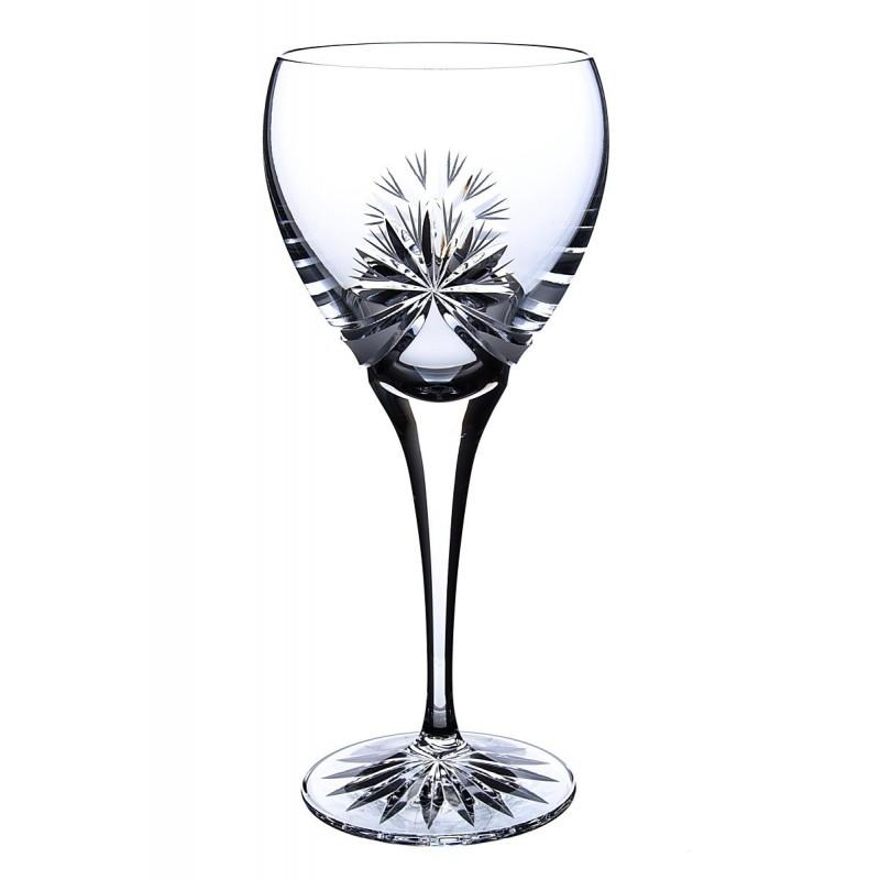 Broušené skleničky na bílé víno