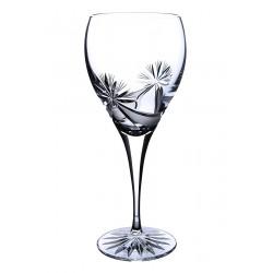 Broušené skleničky na víno 420ml, Mašle