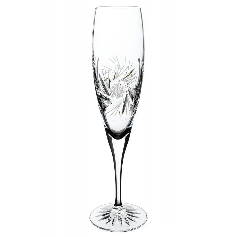 Broušené sklenice na sekt 200ml, Větrník