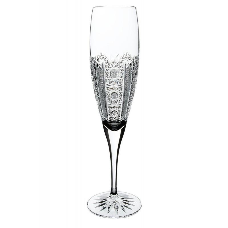 Broušené sklenice na sekt 200ml, Iris