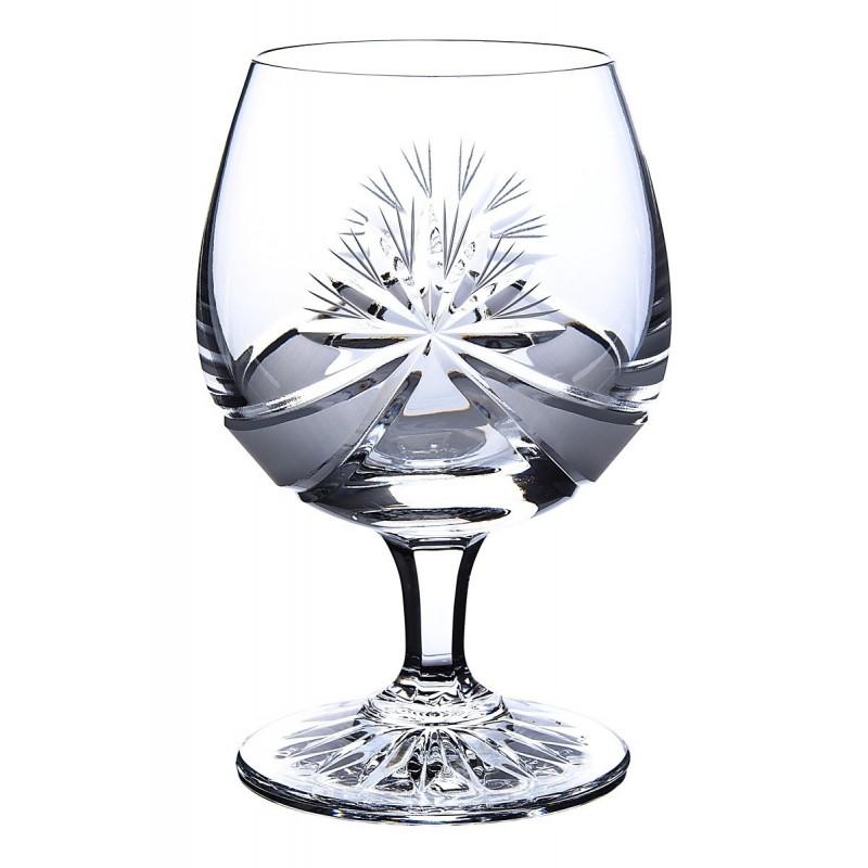 Broušené skleničky na rum, brandy, koňak, Mašle