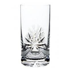 Broušené skleničky na vodu 380ml, Mašle