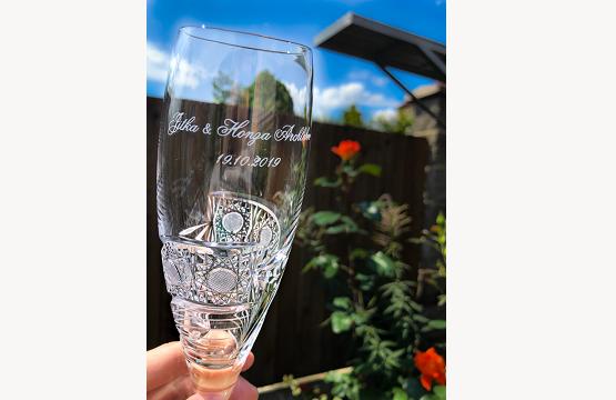 Pískování skleniček - sklenice se jménem či jiným textem